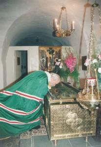 Патриарх Алексий у мощей свт. Евфимия