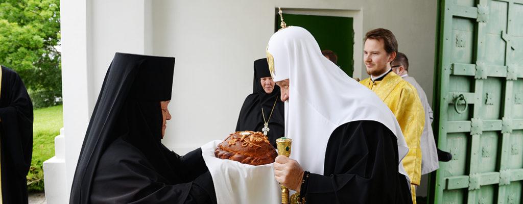 Служение Патриарха в нашей обители